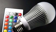 Bombilla led de colores variable con mando a distancia